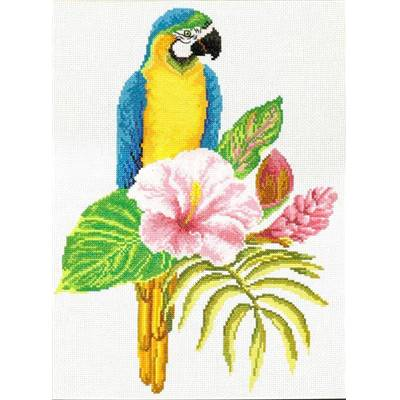 Hibiscus Macaw - Kit point de croix - Needleart World