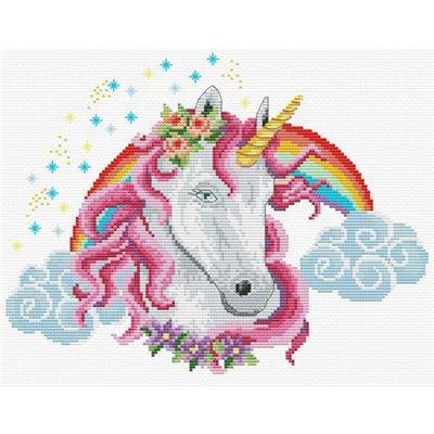 Licorne arc-en-ciel - Kit point de croix - Needleart World
