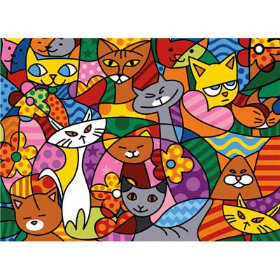 Color Cats - Canevas Chats - SEG de Paris