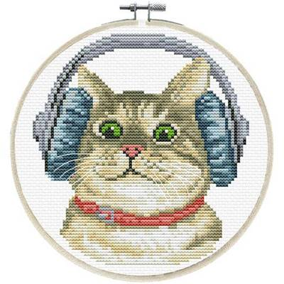 DJ Kitty - Kit point de croix - Needleart World
