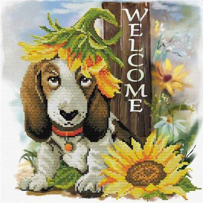 Sunflower Hound - Kit point de croix - Needleart World