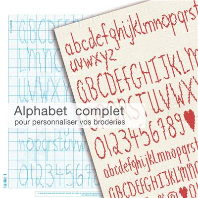 Alphabet Complet - Fiche point de croix - Lilipoints