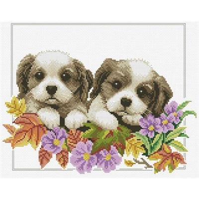 Peeking pups - Kit point de croix - Needleart World