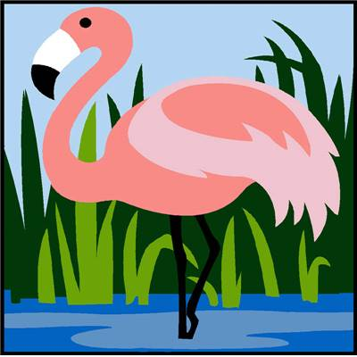 Flamant Rose - Kit canevas enfant - Margot de Paris